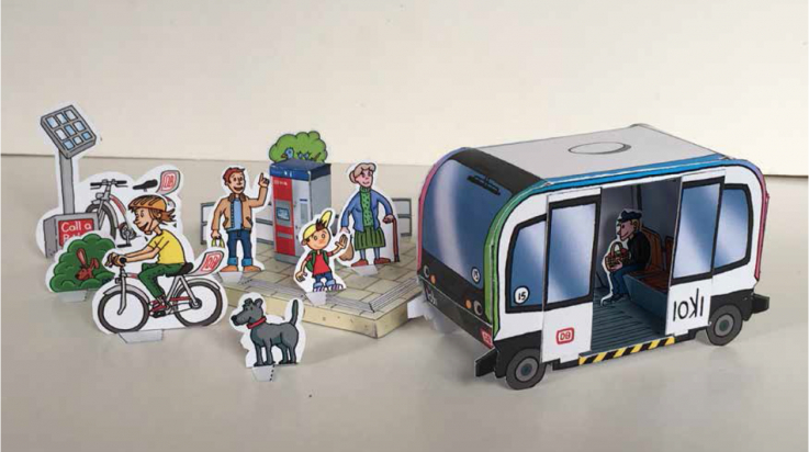 Autonomer Bus / Illustration: DB AG/Titus Ackermann